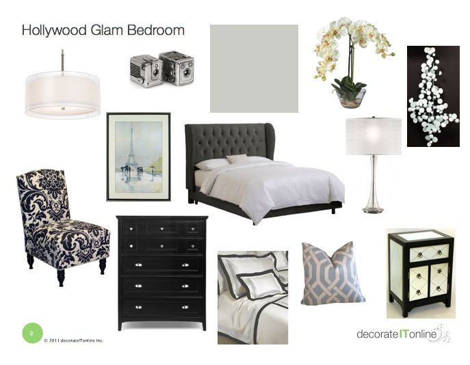 hollywood glam bedroom on a budget my web value. Black Bedroom Furniture Sets. Home Design Ideas