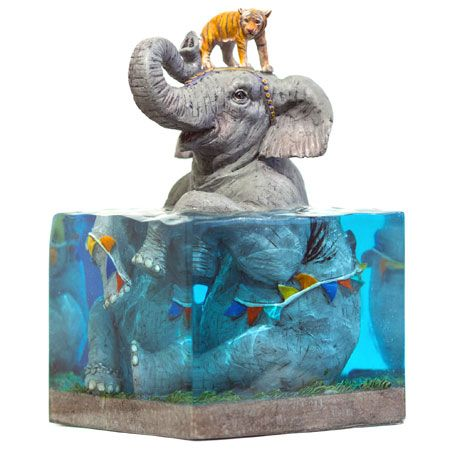 Lifted II Limited Edition Art Sculpture by Josh Keyes - This limited edition sculpture was inspired by the painting Lifted II by Josh Keyes. For the first time you can see a 3D representation of his amazing work. Limited to only 350 pieces, each sculpture comes with a signed