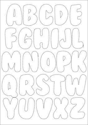 Nella valigia della Buru: Cartamodello: alfabeto per feltro o stoffa