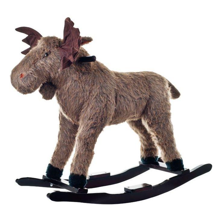 Plush Max Rocking Moose