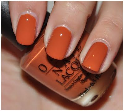 "OPI ""ginger bells"" for a fall color"