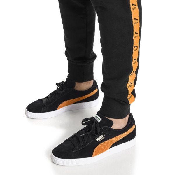 Black puma shoes, Puma suede