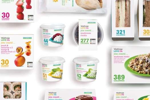 Bright Informational Branding - Waitrose 'LOVE life You Count...' Colorfully Displays Calories