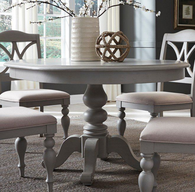 Summer House Dove Grey Round Extendable Dining Table In 2020