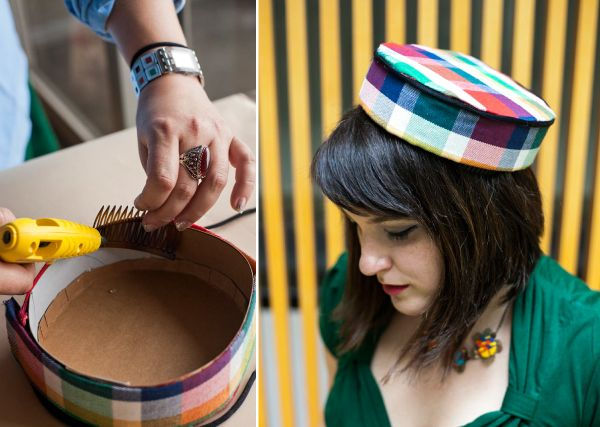 Pillbox Hat DIY No sew tutorial on how to make a darling pillbox style hat.