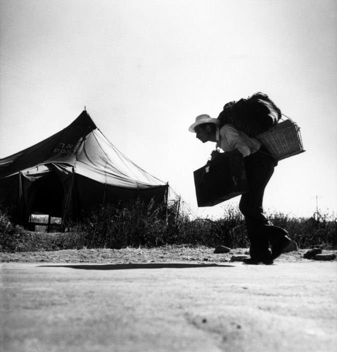 Robert Capa © International Center of Photography ICP 797 Haifa. 1949. Upon their arrival, immigrants are placed in reception camps, until housing is found for them.