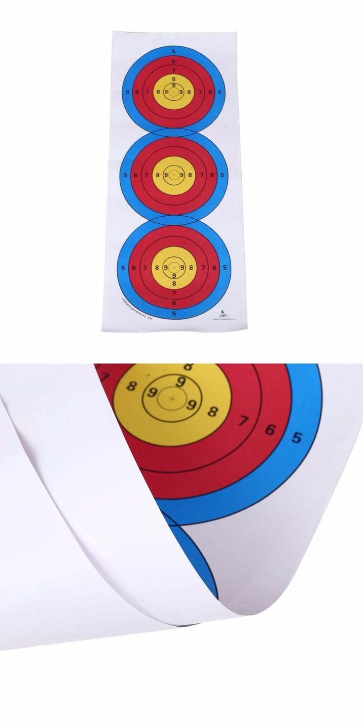 Forfar 60*24cm Standard Three Target Paper Shooting Target Full Ring Archery Hunting Accessories Bow Arrow Spots Arrow Target #archeryhunting