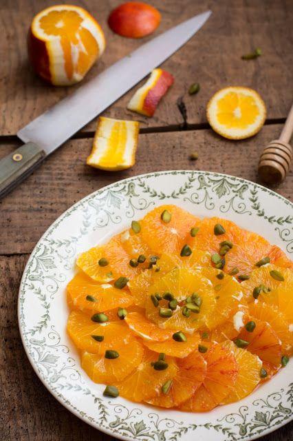 Chic, chic, chocolat...: Salade d'oranges au miel et aux pistaches