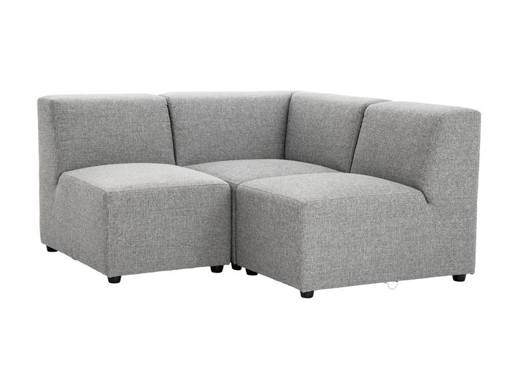 MIRAGE 2-personers hjørnesofa Grå - Modulopbyggede sofaer - Sof