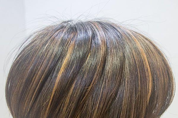 白髪を目立たなくする染め方のひとつ ヘアスタイリング ヘア