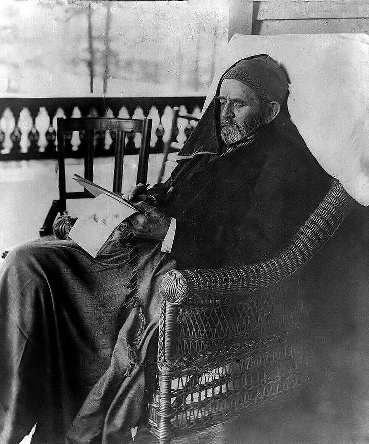 General (President) Ulysses S. Grant Writing his Memoirs, Mount McGregor, New York, June 27, 1885
