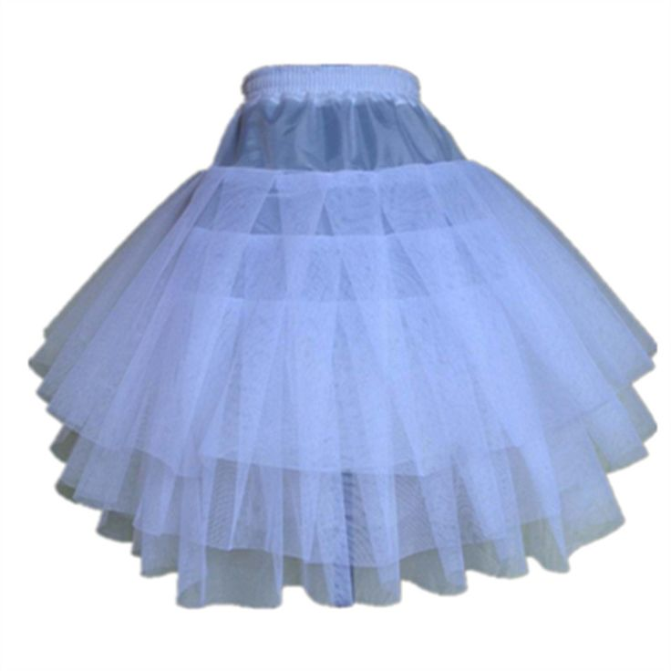 Top Quality Stock Three Layer Net White A-Line Flower Girl Dress Petticoat / Child Crinolines/Underskir