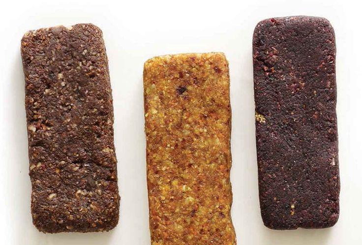 Homemade Larabars: Apple Pie,  Peanut Butter Cookie, Pecan Pie, Gingerbread, Blueberry Cobbler, Carrot Cake, Key Lime, Lemon Pie, Banana Bread