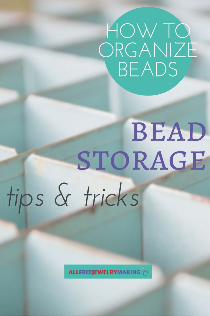 Don't let your burgeoning bead stash get the best of you. Get organized with this handy collection of tips for storing beads!