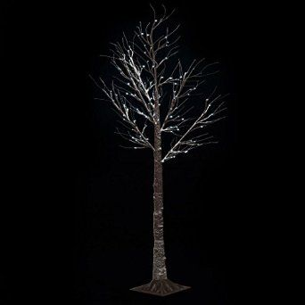 Steal A Deal Christmas Pre Lit Twig 120 Led Floor Standing 7ft Outdoor Indoor Snowy Effect Tree 210cm - Cool White: Amazon.co.uk: Lighting