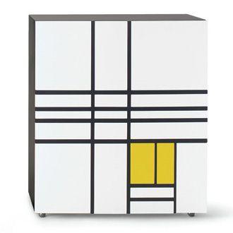 'Homage To Mondrian Cabinet' Designed by Shiro Kuramata for Cappellini