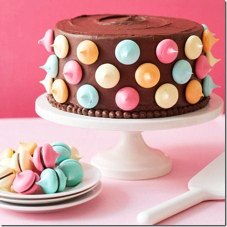 Polka Dot Cake #Polka Dot, going to have to make this for sure!! Way cute!