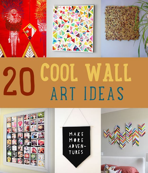 20 Cool DIY Wall Art Ideas by DIY Ready at  http://diyready.com/20-cool-wall-art-ideas/