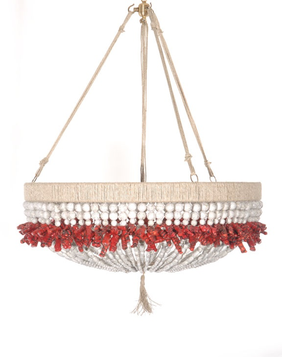 Fun Light Fixture By Ro Sham Beaux Made Of Natural Hemp U0026 Natural Red Coral