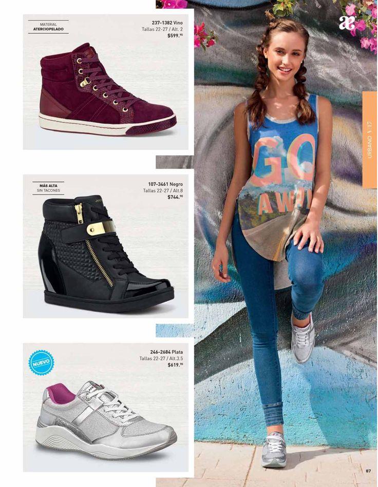 Tenis con plataforma interna para mujer, catalogo andrea. #ZapatosAndrea #CatalogoAndrea