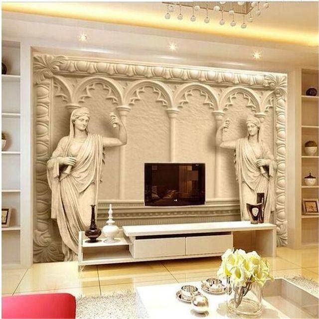 Nice Individuelle fototapeten D Continental wandbild reliefs hintergrund einfache mode gro es wandbild d wandbilder wallpaper malerei