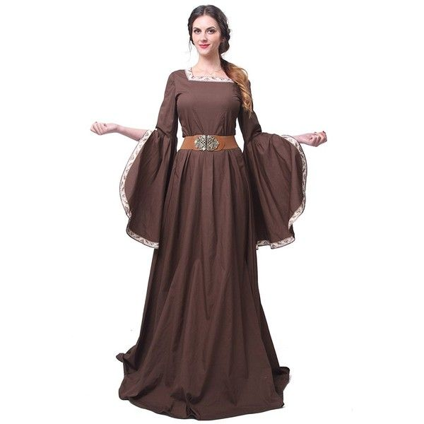 Nuotuo Women Renaissance Costumes Vintage Plus Size Masquerade... (£38) ❤ liked on Polyvore featuring costumes, masquerade costumes, womens victorian costume, vintage halloween costumes, womens renaissance costume and women's halloween costumes