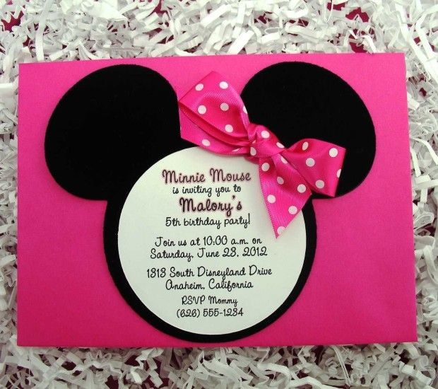 Minnie Mouse First Birthday Party Via Little Wish Parties: 222 Best Images About Minnie Mouse Invitation Cards On