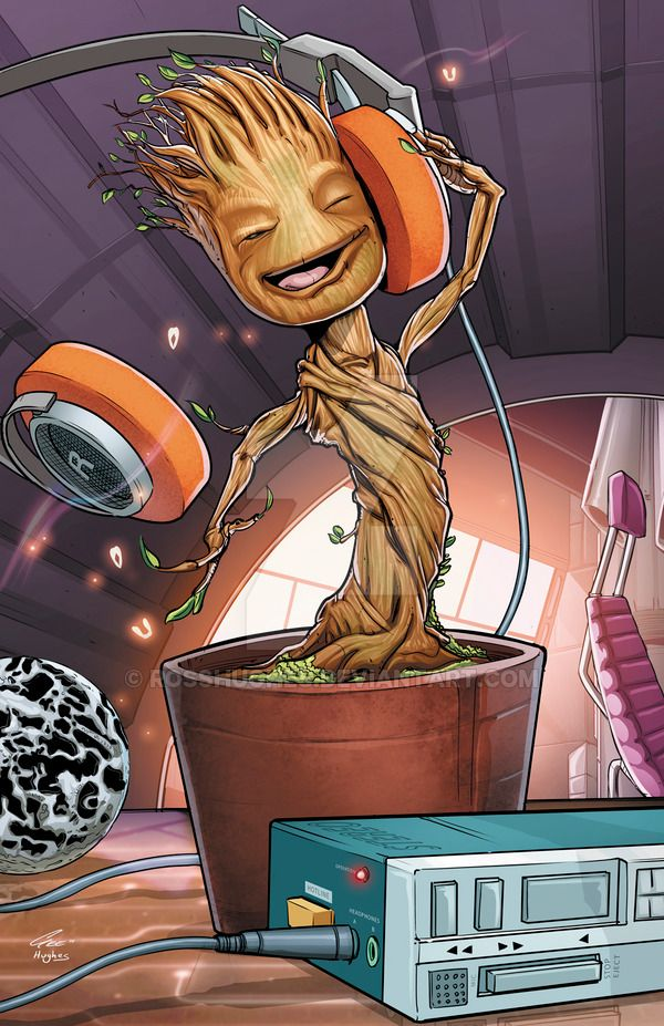 Baby Groot Print Lines by Jackson Gee Colors by me All prints are $10 each (+ $4 shipping (1 or more)) More prints available here: rosshughes.deviantart.com/gall… Email me at: hughesco...