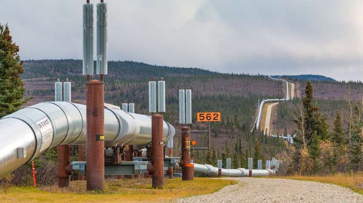 Built in 1977, the Trans Alaska Pipeline System was the largest privately funded construction projec... - Tomasz Wozniak / Shutterstock.com