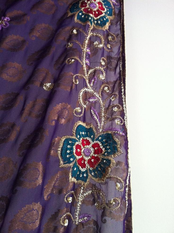Embroidery on the sari