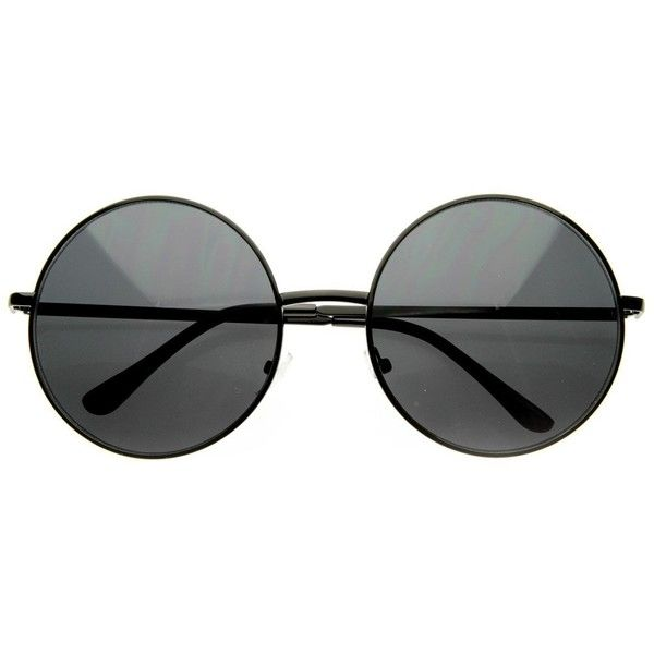 c83619b06af68 Super Large Oversized Metal Round Circle Sunglasses (33 BRL) ❤ liked on  Polyvore featuring. Óculos De SolÓculos ...