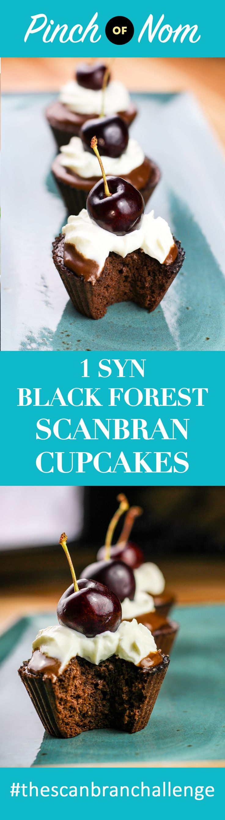 1 Syn Black Forest Scan Bran Cupcakes | Slimming World - http://pinchofnom.com/recipes/1-syn-black-forest-scan-bran-cupcakes-slimming-world/