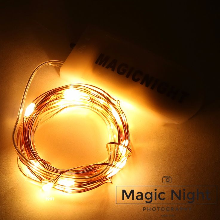 Magicnight 20 Warm White Color Micro LED String Lights on 7 Feet Extra Thin Copper Wire for DIY Wedding Centerpiece