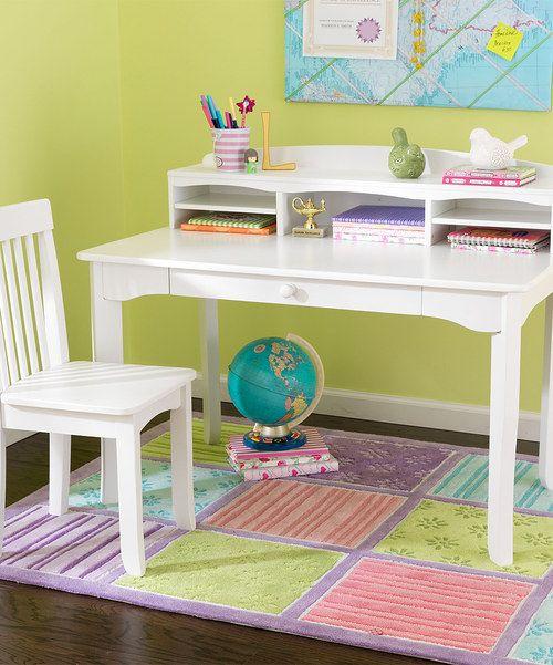 Kidkraft White Three Piece Avalon Two Piece Desk Set The