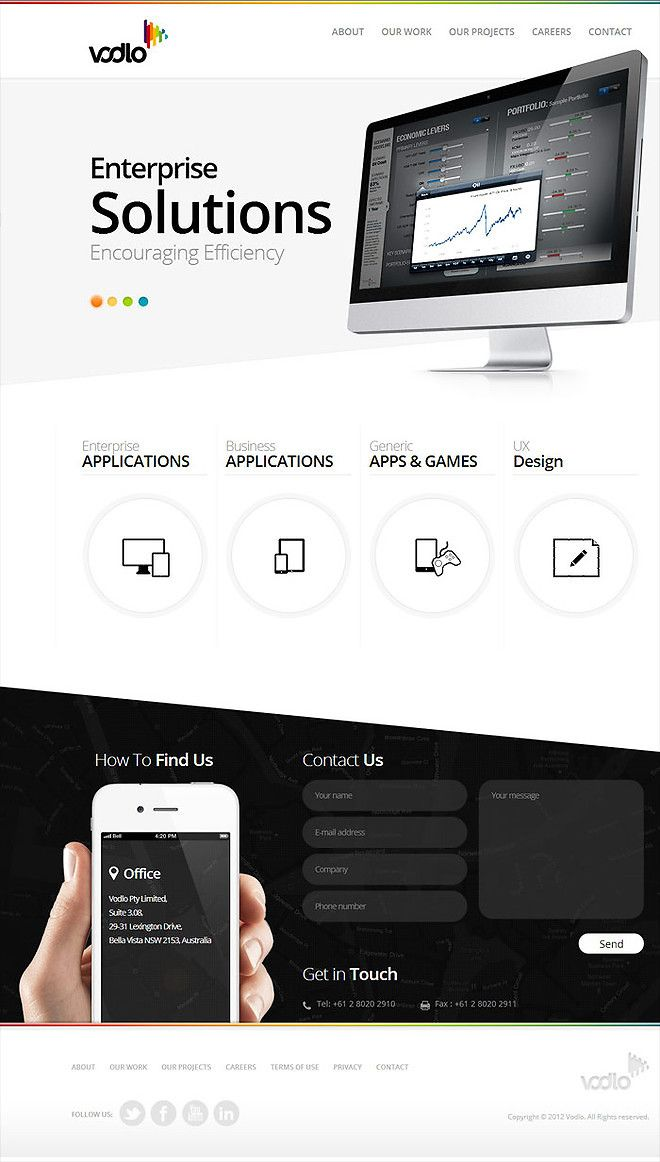 Vodlo - Building Apps & Creating Clouds - CoolHomepages Web Design Gallery