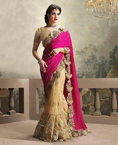 8db25e8893 Heavy Work Sarees - These 15 Beautiful Sarees That You Looks in Regal! |  India ruhák, ékszerek | Chiffon saree, Saree és Saree wedding