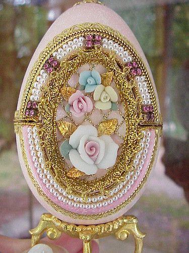 Real GOOSE Egg Collectible Jewelry Trinket Box Birthday Easter Gift Keepsake | eBay