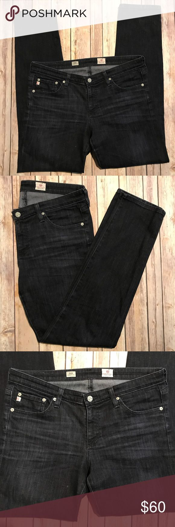 """Ag Adriano Goldschmied 'Stilt Cigarette Leg' jeans Adriano Goldschmied 'Stilt Cigarette Leg' jeans • black faded wash • size 31R • gently worn but in excellent condition.  Measurements: 31"""" inseam 9"""" front rise Last photo is picture of style but actual jeans for sale are a black wash (not a dark blue like in the photo) Ag Adriano Goldschmied Jeans Straight Leg"""