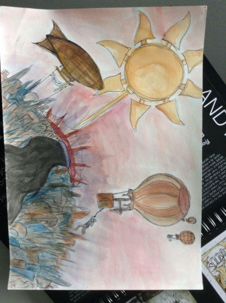 Own design. Biro with watercolour