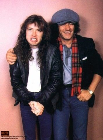 Angus Young and Brian Johnson, ~1985