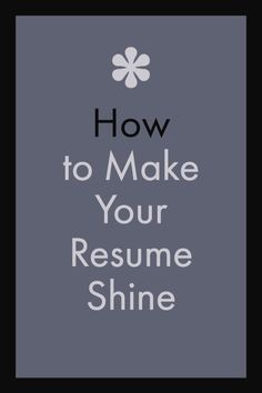 How to make your resume stand out.