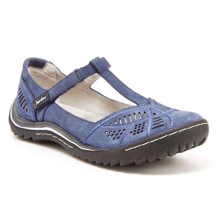 Quality meets comfort in this breathable comfort shoe from Jambu. Stride with ease with Memory foam footbed. Tackle any terrain with All-Terra traction.