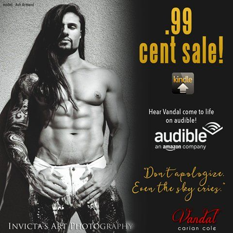 """►►►#SALE 99¢ ♫ #RockstarAlert ♪◄◄◄ Vandal (Ashes & Embers, #2) by Carian Cole  OMG! Ladies, you MUST listen to the Audible sample!  The narrator is Joe Arden, and the excerpt he reads is HOT!  I was 'Vandalized"""".  Since I signed up for the Amazon Audible Free Trial, I got Vandal for #FREE!  He will keep me company during my exercise as he talks dirty in my ear! ~ Rosa Sharon  ►Amazon: http://geni.us/3r7I ►Audible Free Trial w/2 free books: http://geni.us/2bfi ►Amazon Audible: http://geni."""