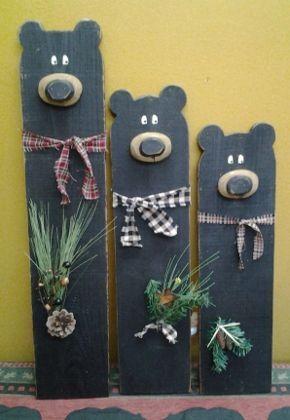 Black+Wood+Bear #WoodCraftsToSell