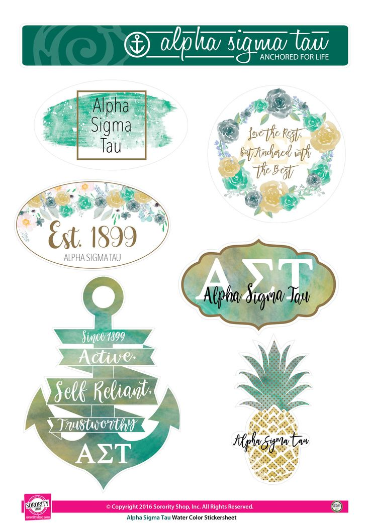 Now available Alpha Sigma Tau S... Shop http://manddsororitygifts.com/products/alpha-sigma-tau-sticker-sheet-water-color?utm_campaign=social_autopilot&utm_source=pin&utm_medium=pin