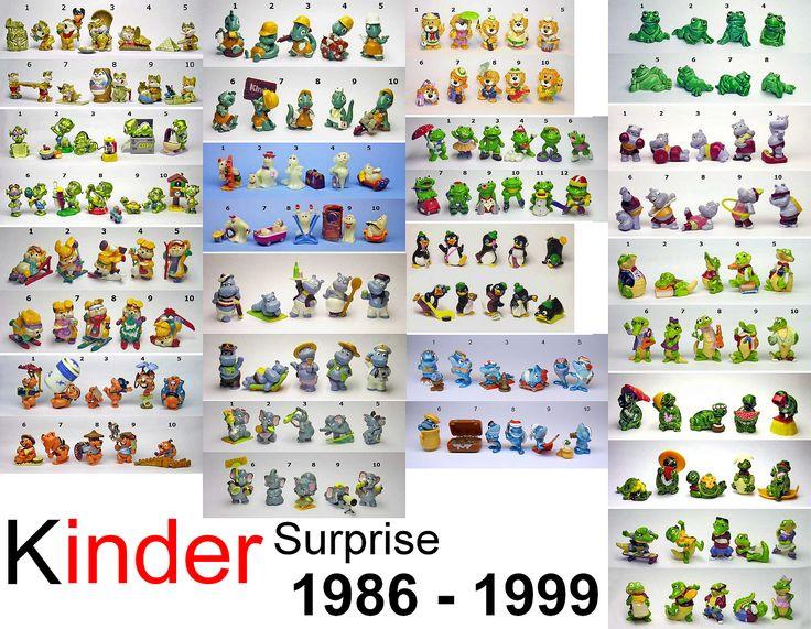 Kinder Surprise de 1986 à 1999
