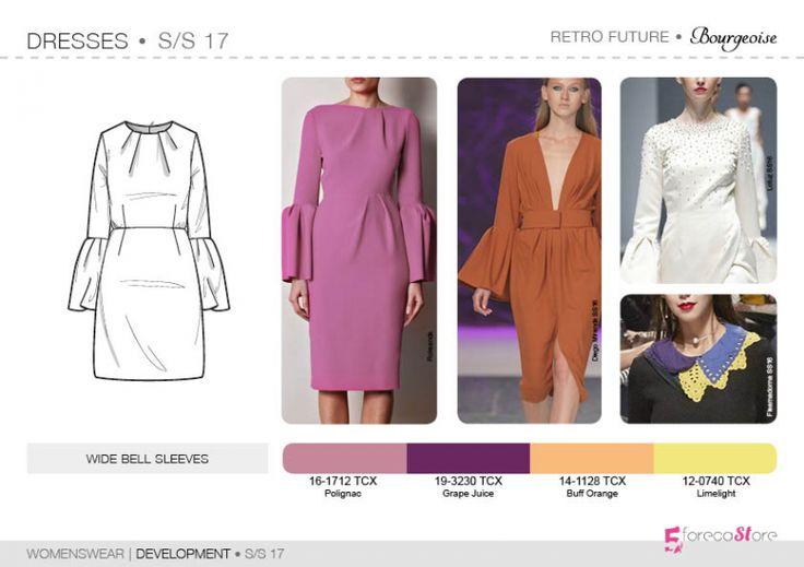 Bourgeoise, Flamboyant, Impression, Survivalist SS17 | Womenswear| Development | Dresses | 5forecastore