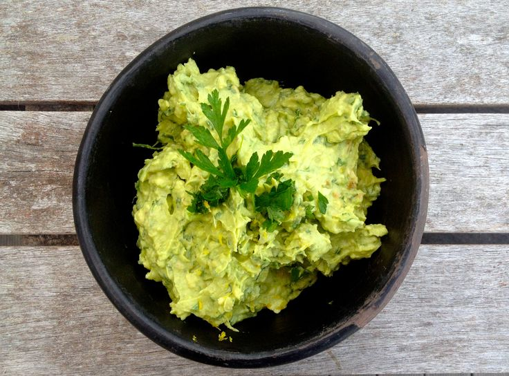 Herby guacamole-mole x See more at www.thecowandbee.com