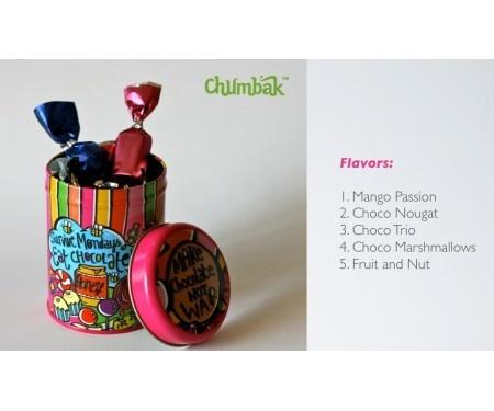 Chumbak tins with flavoured chocolates