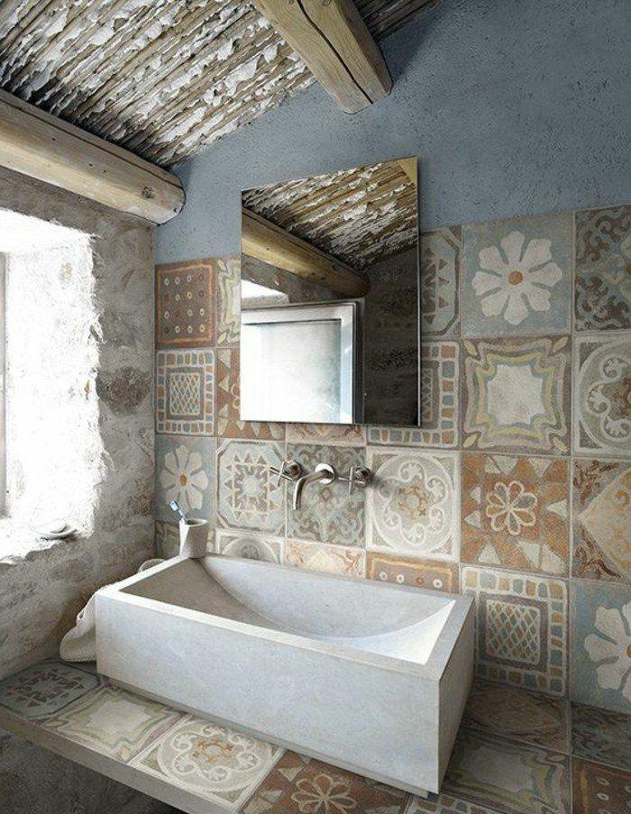 Les 25 meilleures id es concernant carrelage de salle de - Vieux carrelage salle de bain ...